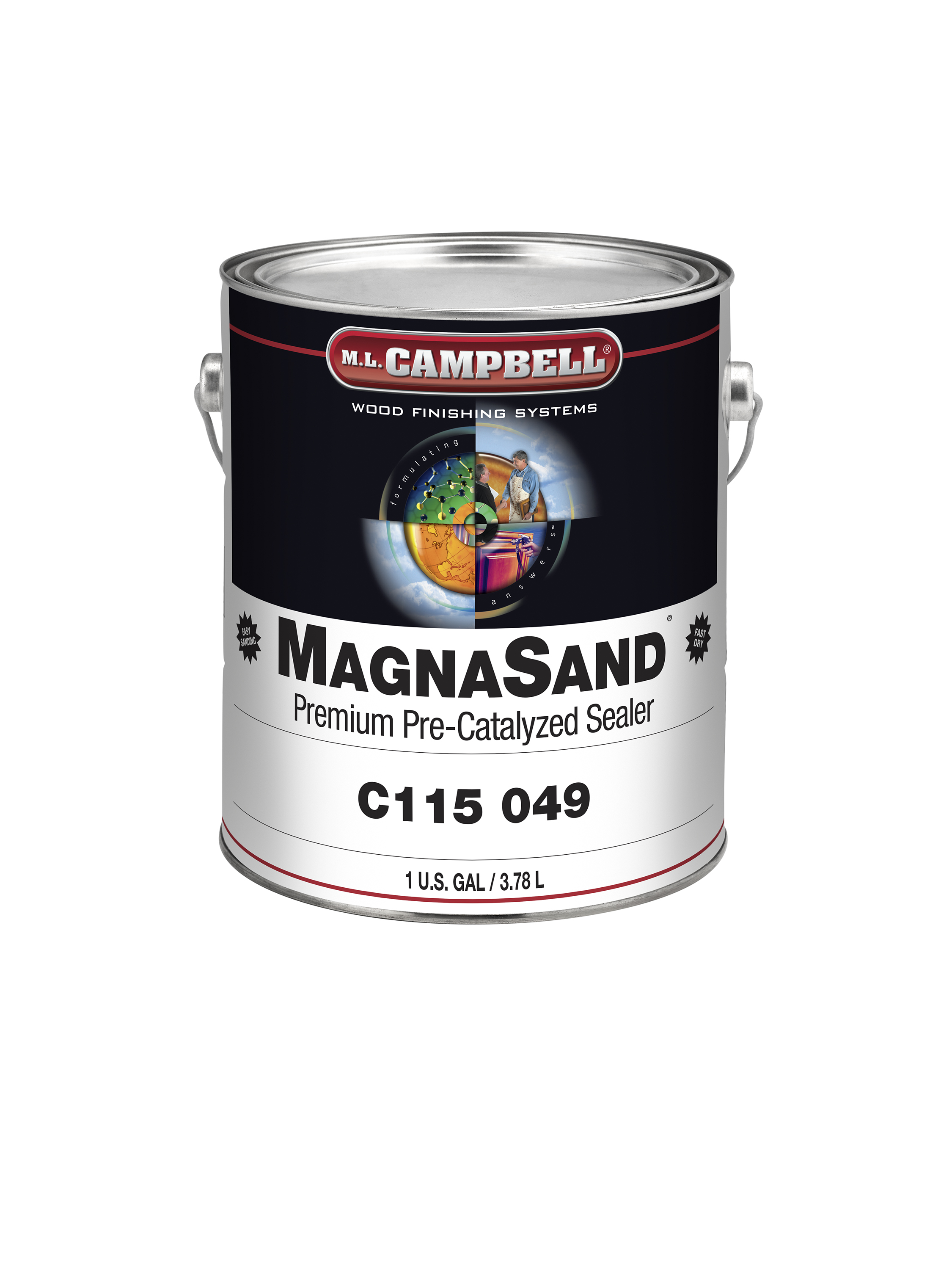 Magnasand sealer m l campbell for Catalyzed lacquer kitchen cabinets